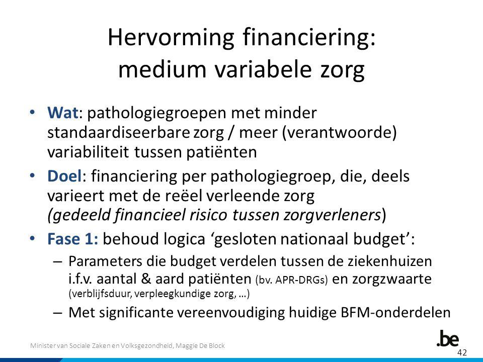 Hervorming financiering: medium variabele zorg