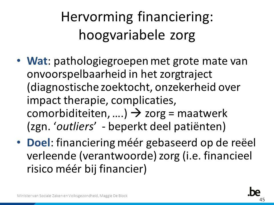 Hervorming financiering: hoogvariabele zorg