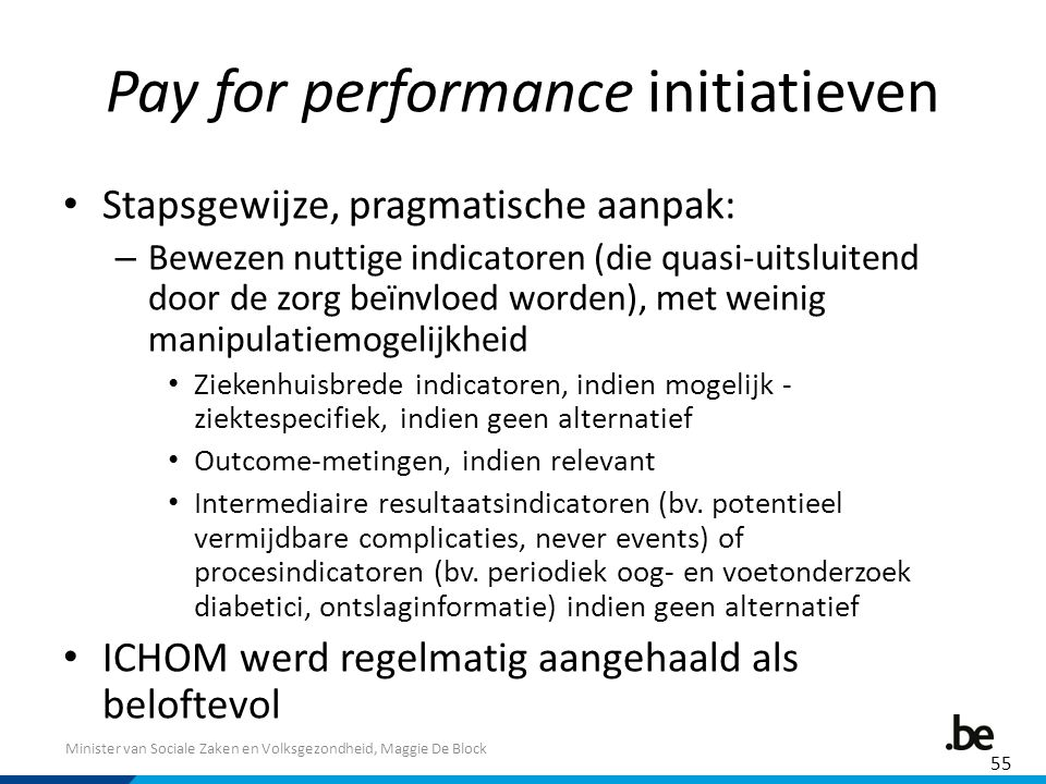 Pay for performance initiatieven