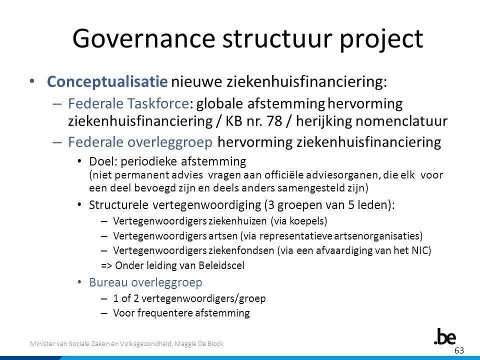 Governance structuur project
