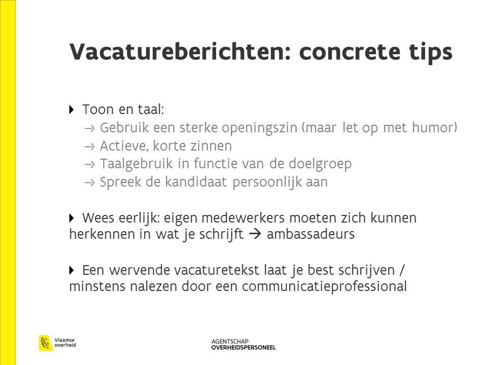 Vacatureberichten: concrete tips