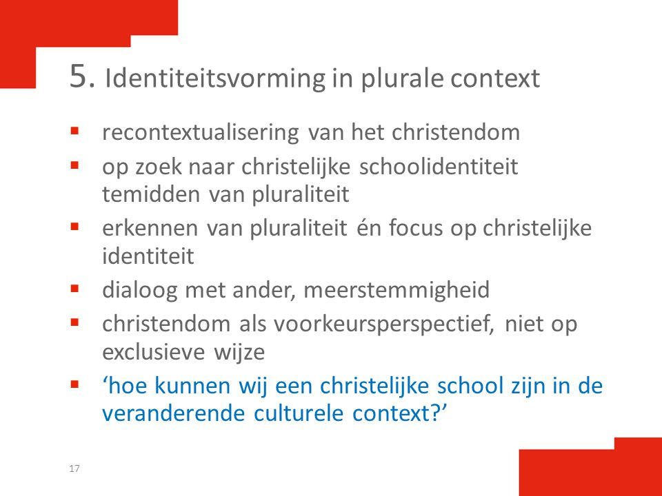 5. Identiteitsvorming in plurale context
