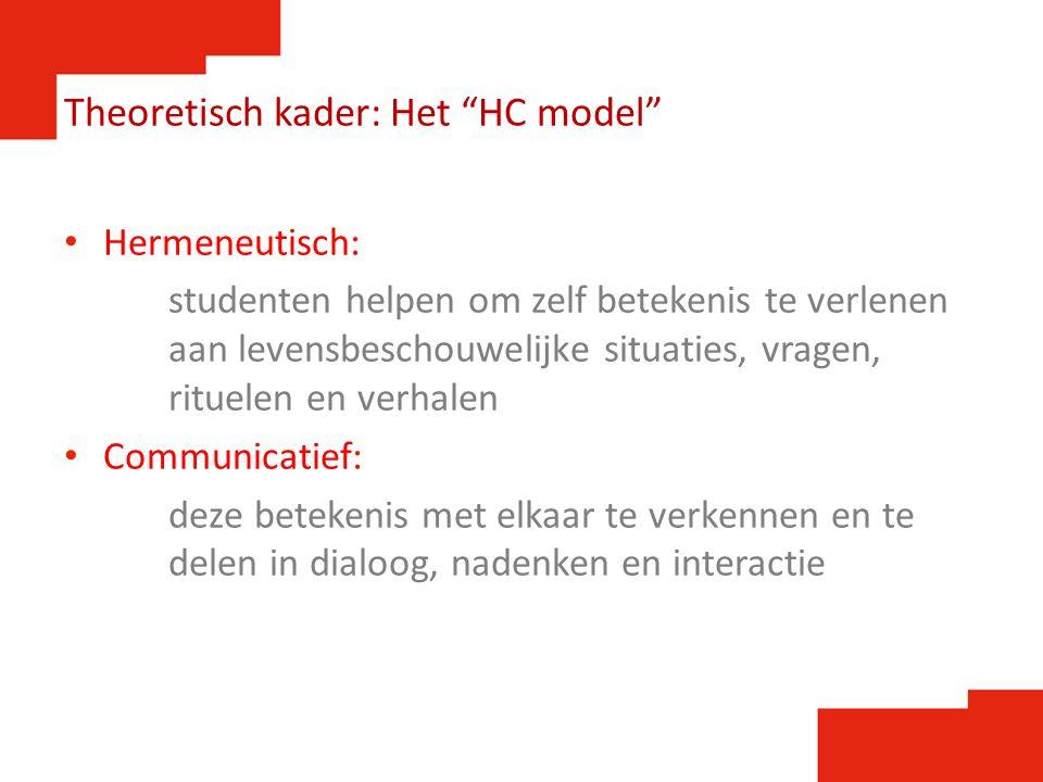 Theoretisch kader: Het HC model