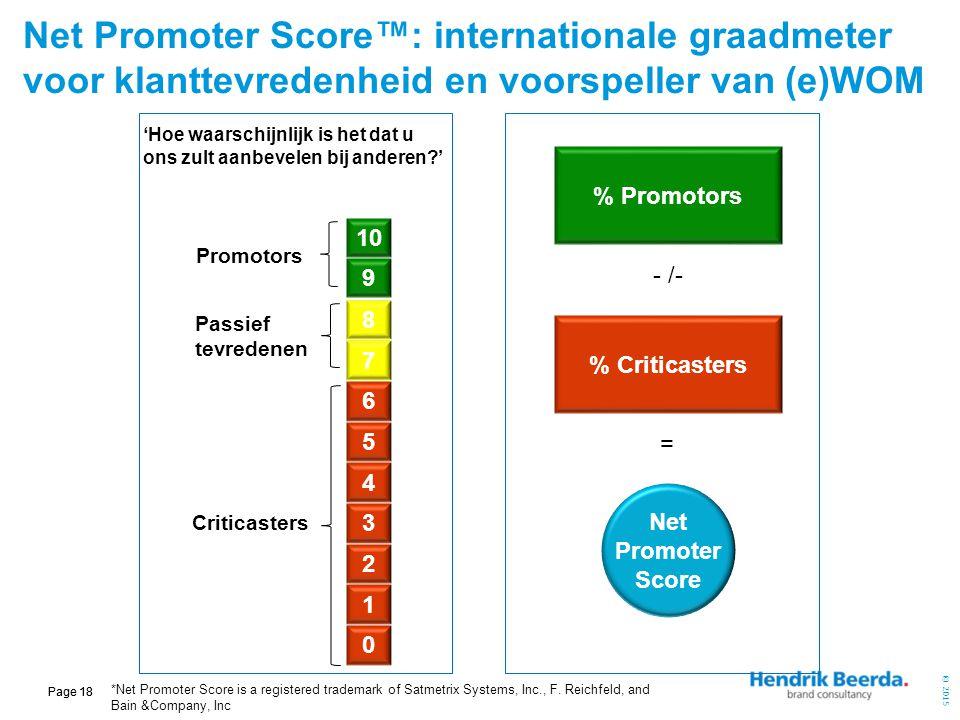 Net Promoter Score™: internationale graadmeter voor klanttevredenheid en voorspeller van (e)WOM