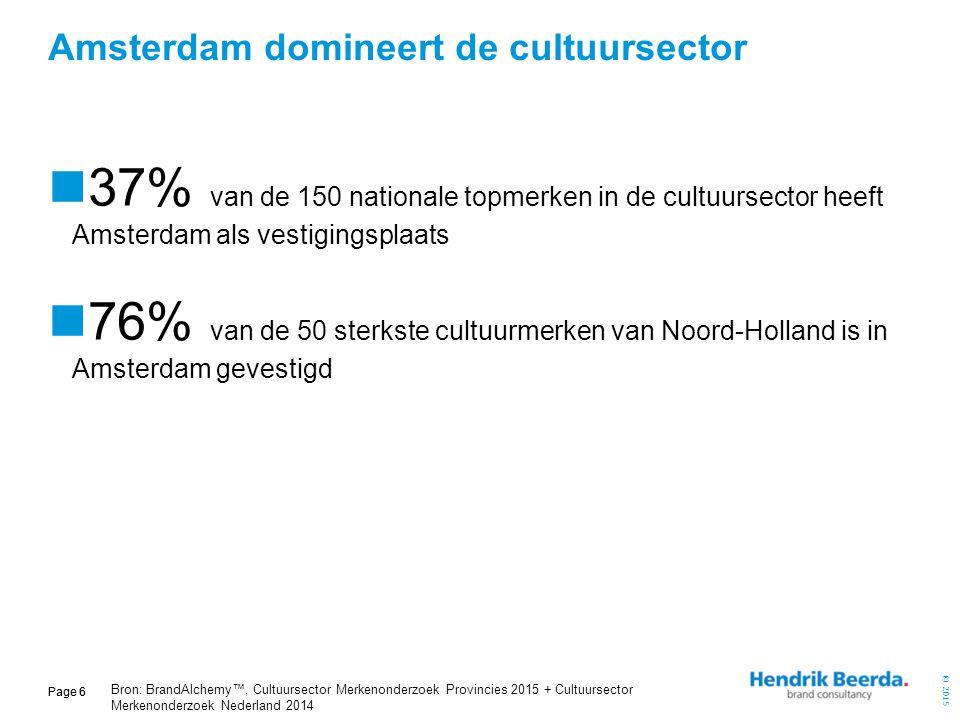 Amsterdam domineert de cultuursector