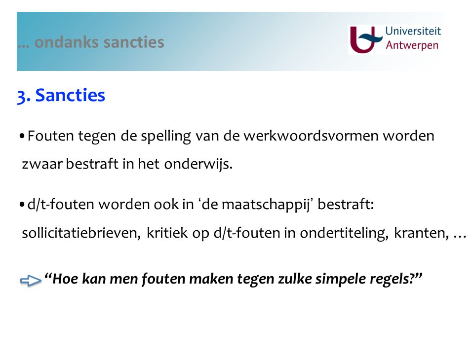 3. Sancties … ondanks sancties