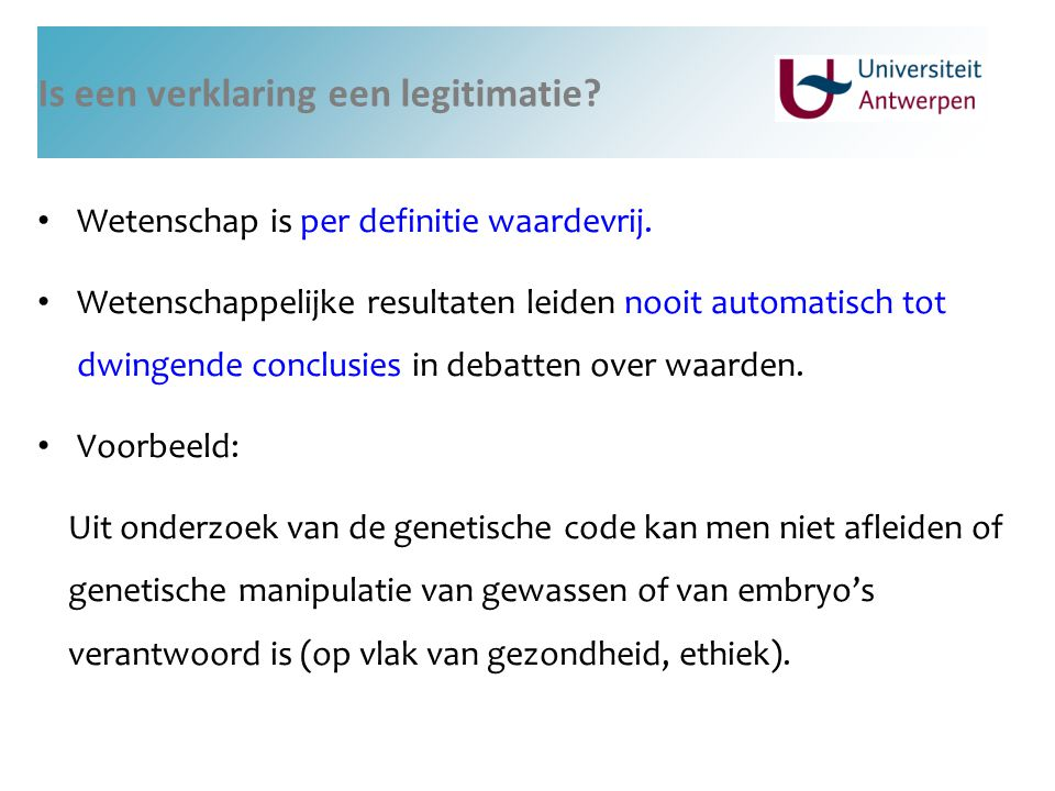 Is een verklaring een legitimatie