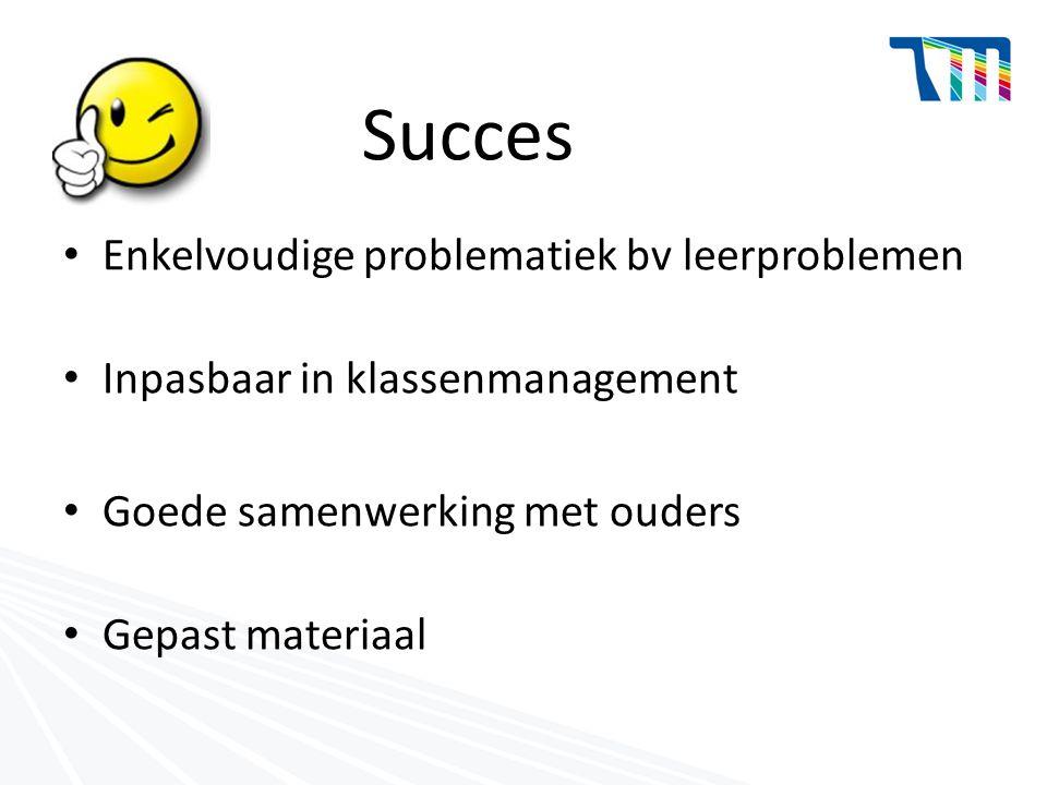 Succes Enkelvoudige problematiek bv leerproblemen