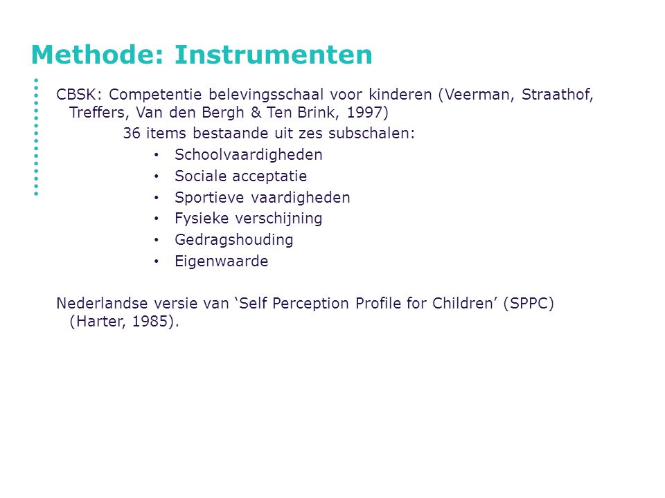 Methode: Instrumenten
