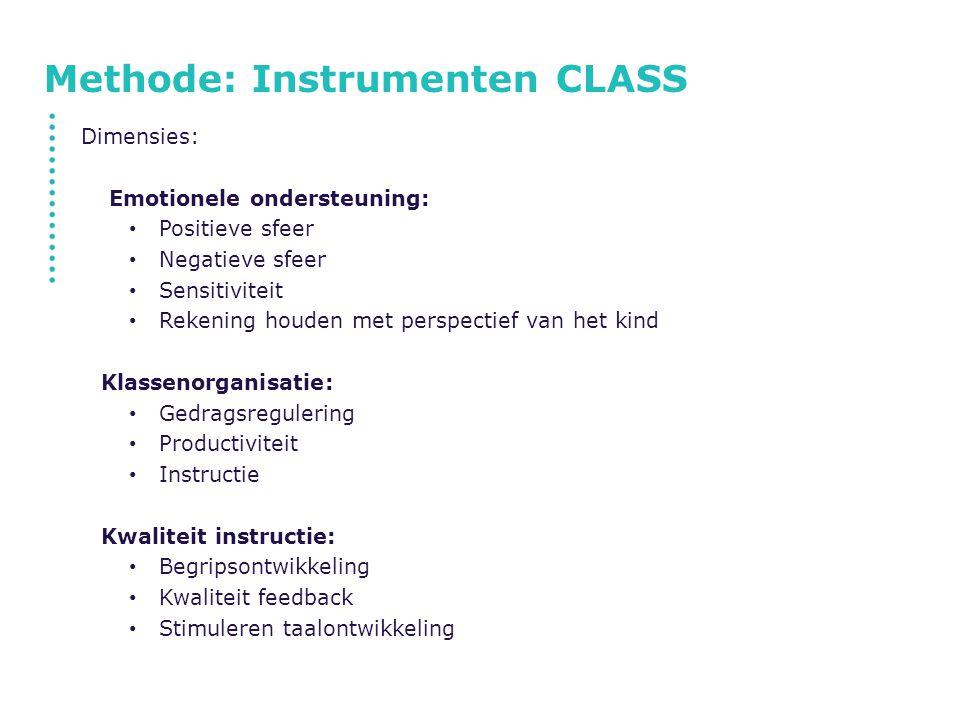 Methode: Instrumenten CLASS