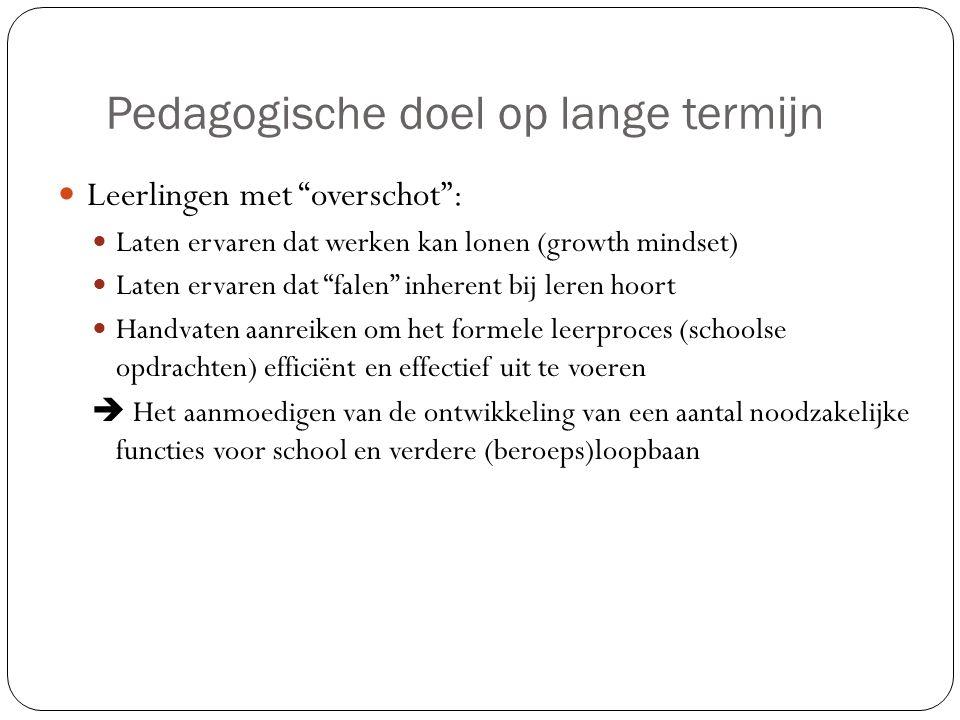 Pedagogische doel op lange termijn