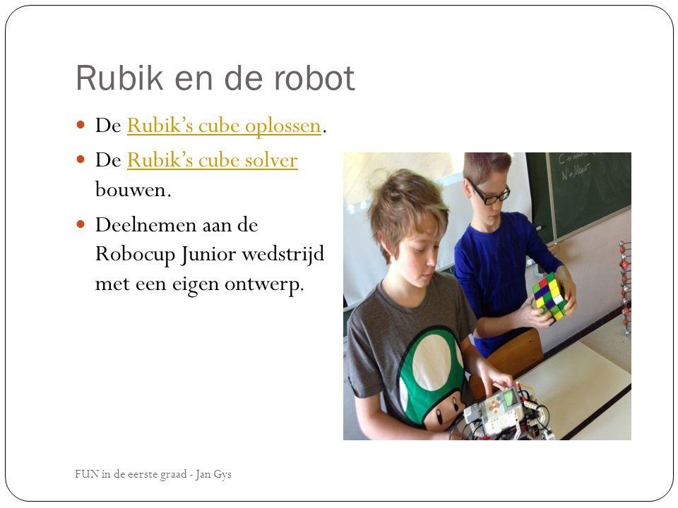 Rubik en de robot De Rubik's cube oplossen.