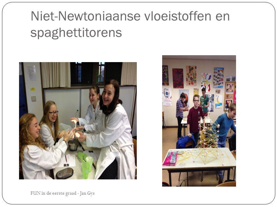 Niet-Newtoniaanse vloeistoffen en spaghettitorens
