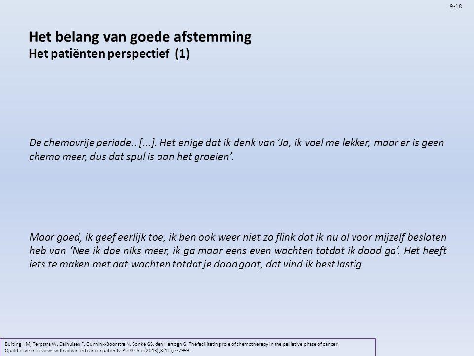 Het belang van goede afstemming Het patiënten perspectief (1)