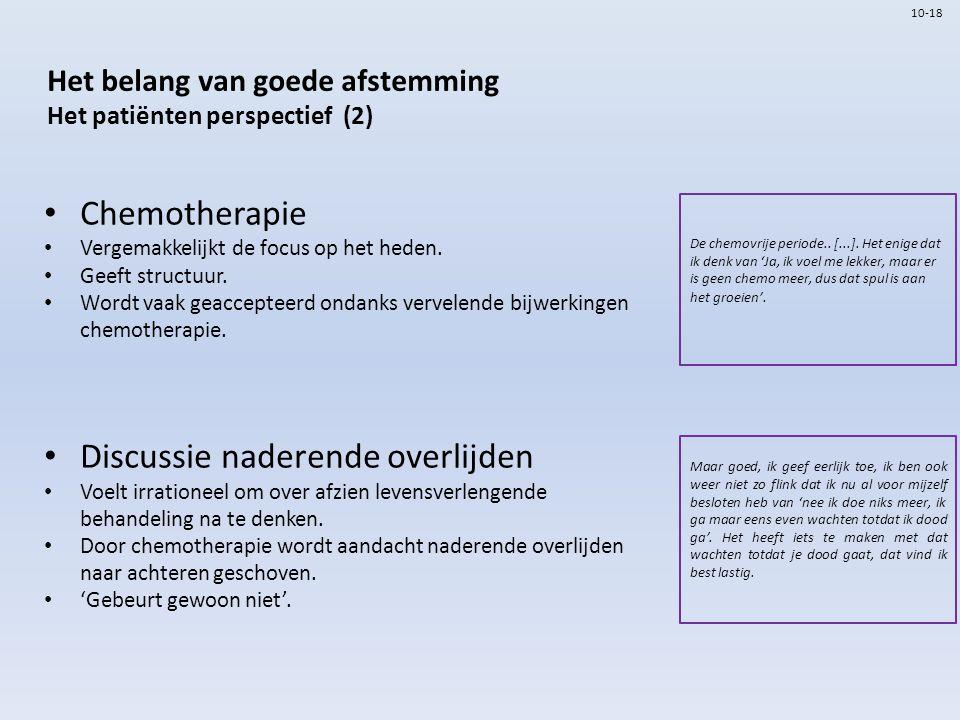 Het belang van goede afstemming Het patiënten perspectief (2)