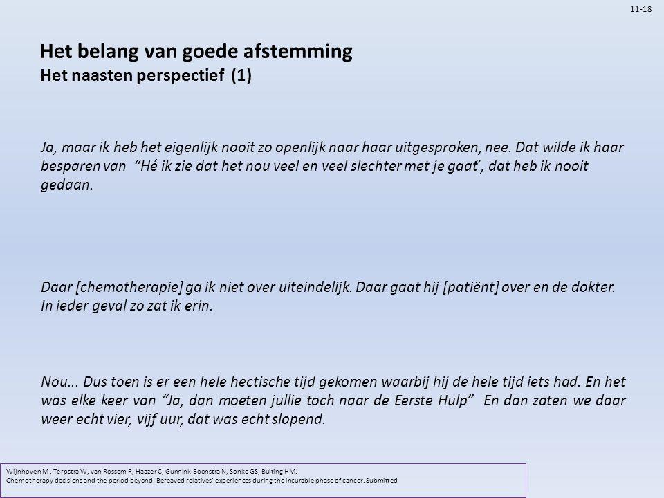 Het belang van goede afstemming Het naasten perspectief (1)