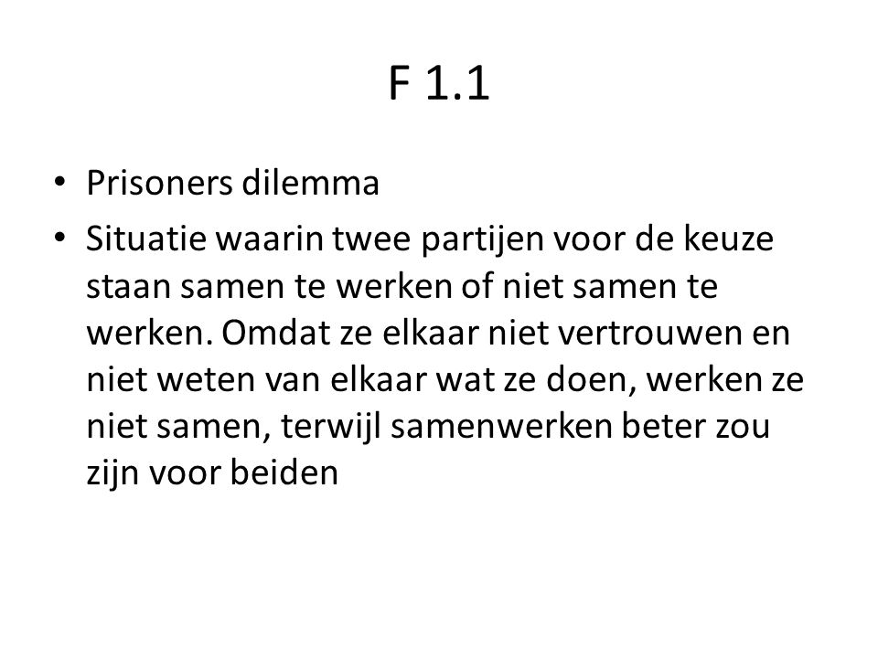 F 1.1 Prisoners dilemma.