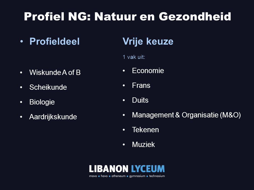 Profiel NG: Natuur en Gezondheid