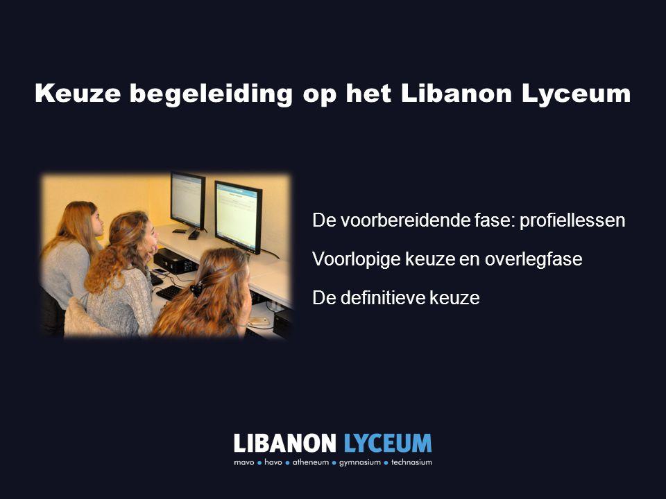 Keuze begeleiding op het Libanon Lyceum