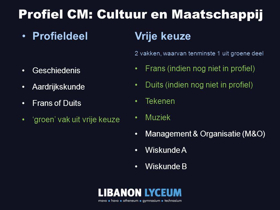 Profiel CM: Cultuur en Maatschappij