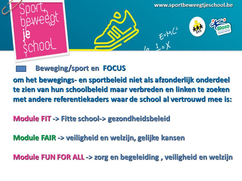 Beweging/sport en FOCUS