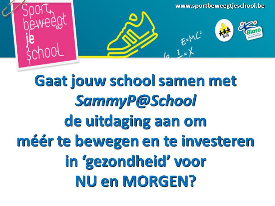 Gaat jouw school samen met SammyP@School de uitdaging aan om