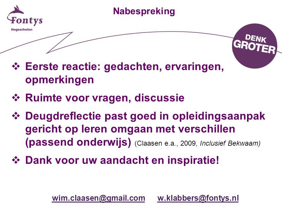 wim.claasen@gmail.com w.klabbers@fontys.nl