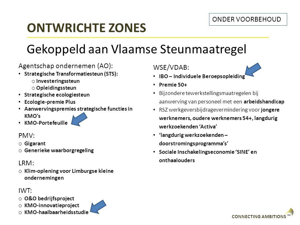 ONTWRICHTE ZONES Gekoppeld aan Vlaamse Steunmaatregel ONDER VOORBEHOUD
