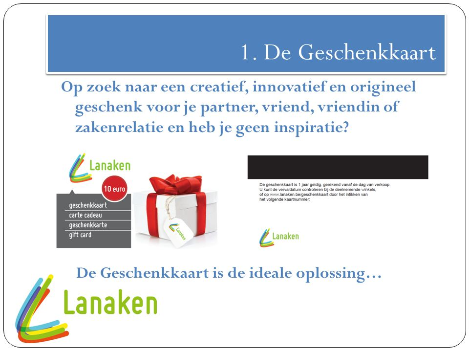 1. De Geschenkkaart