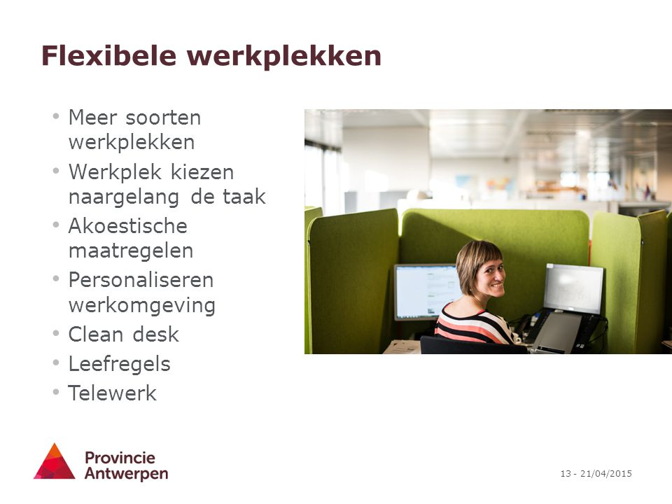 Flexibele werkplekken
