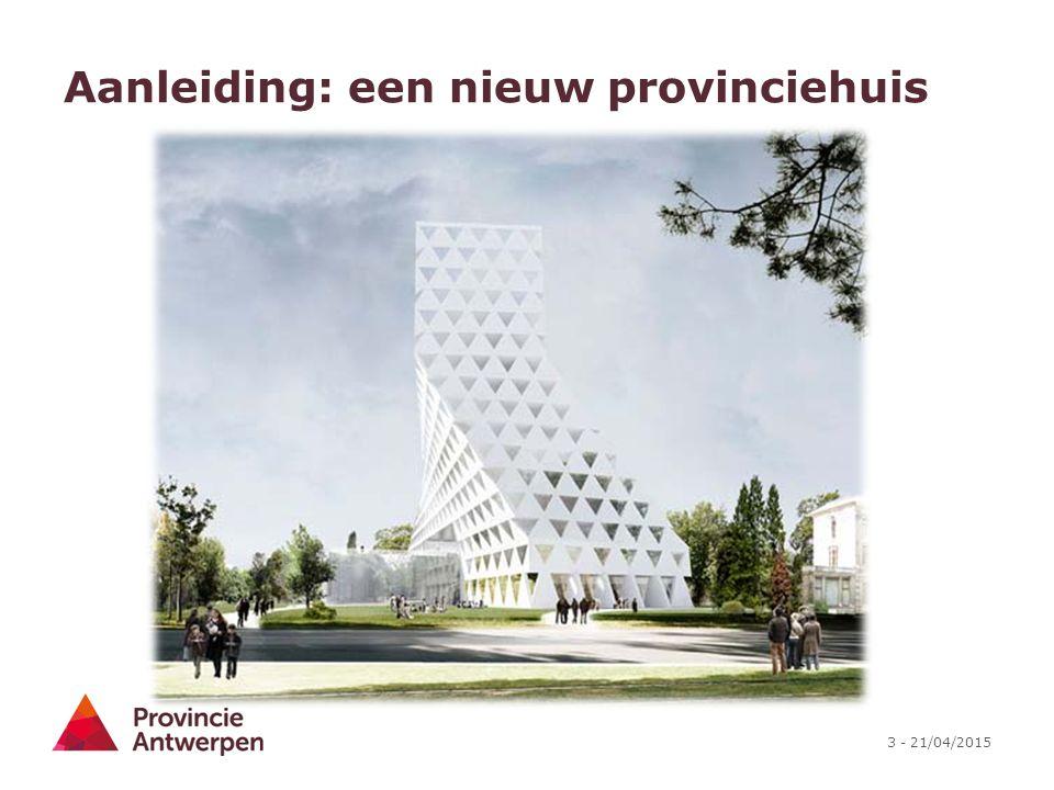 Aanleiding: een nieuw provinciehuis