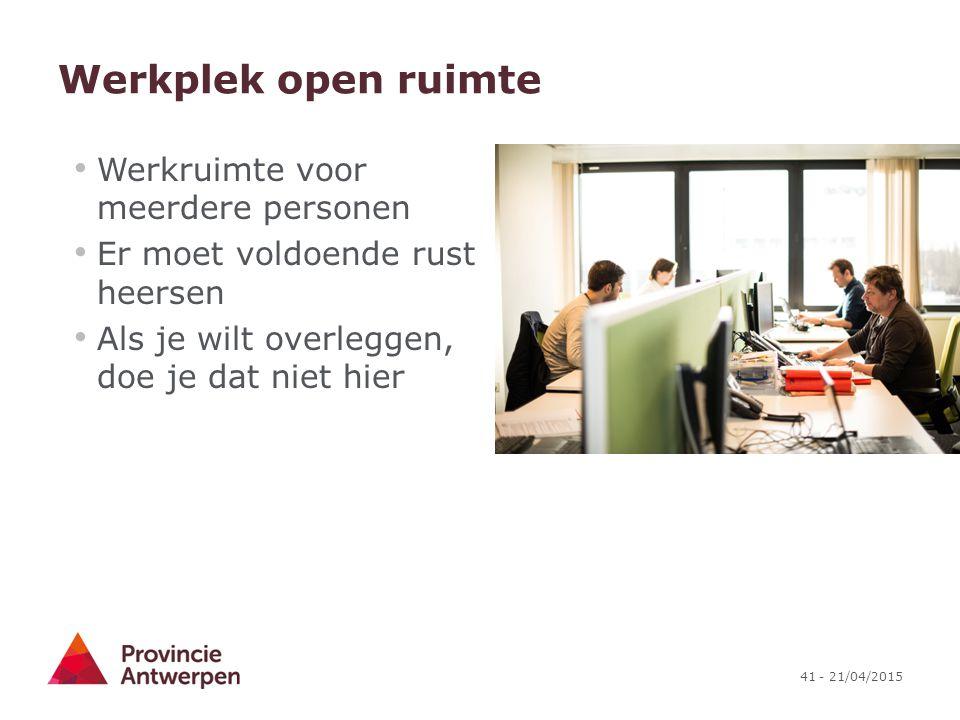 Werkplek open ruimte Werkruimte voor meerdere personen