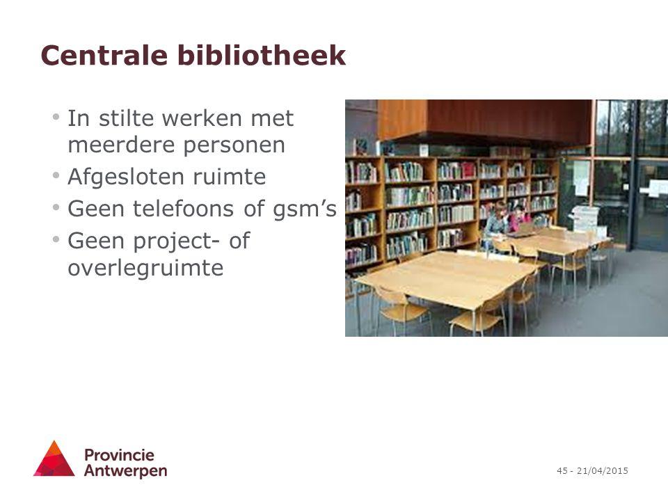 Centrale bibliotheek In stilte werken met meerdere personen