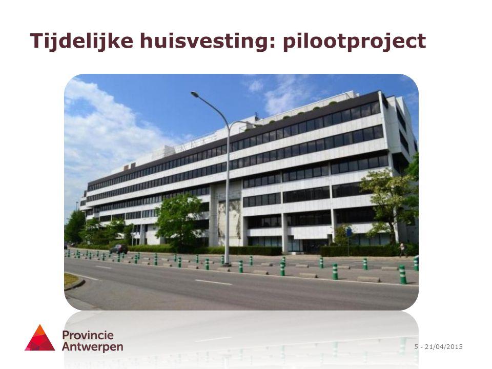 Tijdelijke huisvesting: pilootproject