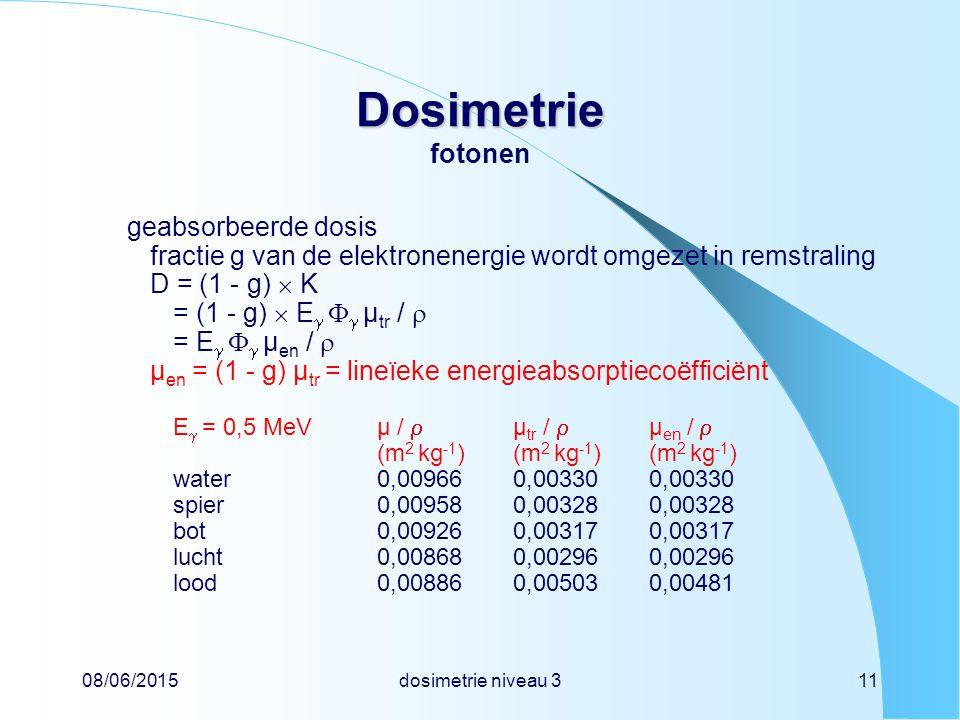 Dosimetrie fotonen geabsorbeerde dosis
