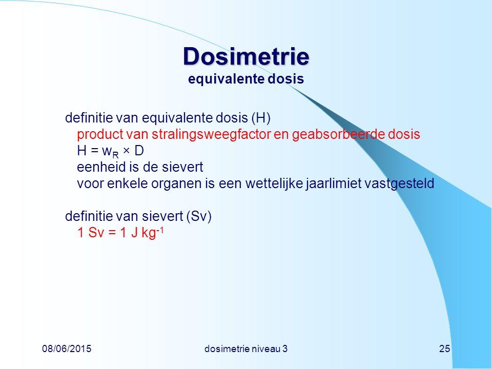 Dosimetrie equivalente dosis
