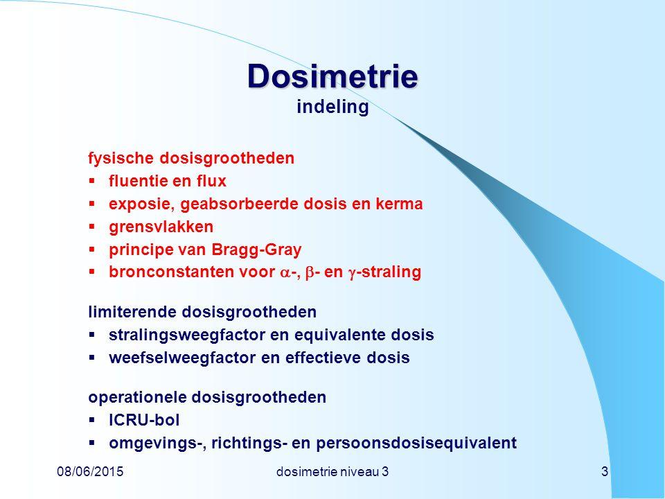 Dosimetrie indeling fysische dosisgrootheden fluentie en flux
