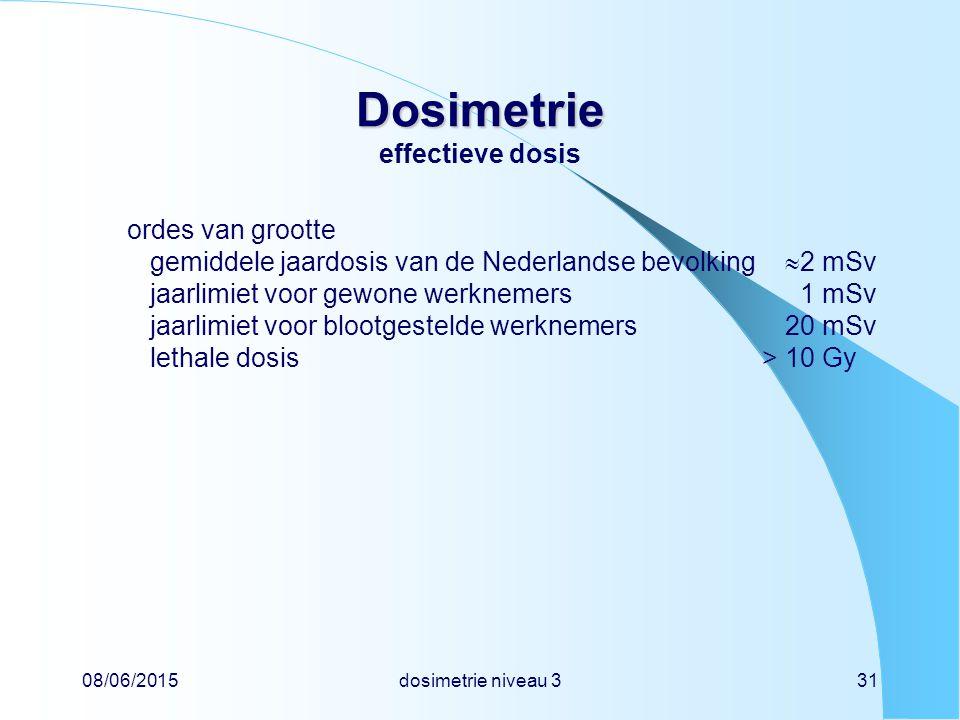 Dosimetrie effectieve dosis