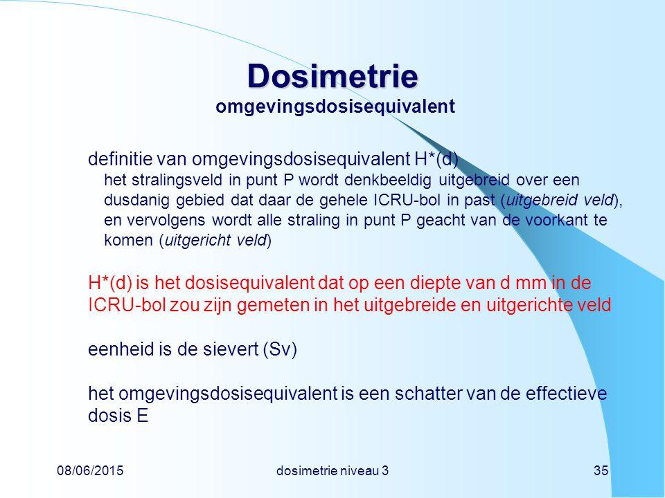 Dosimetrie omgevingsdosisequivalent