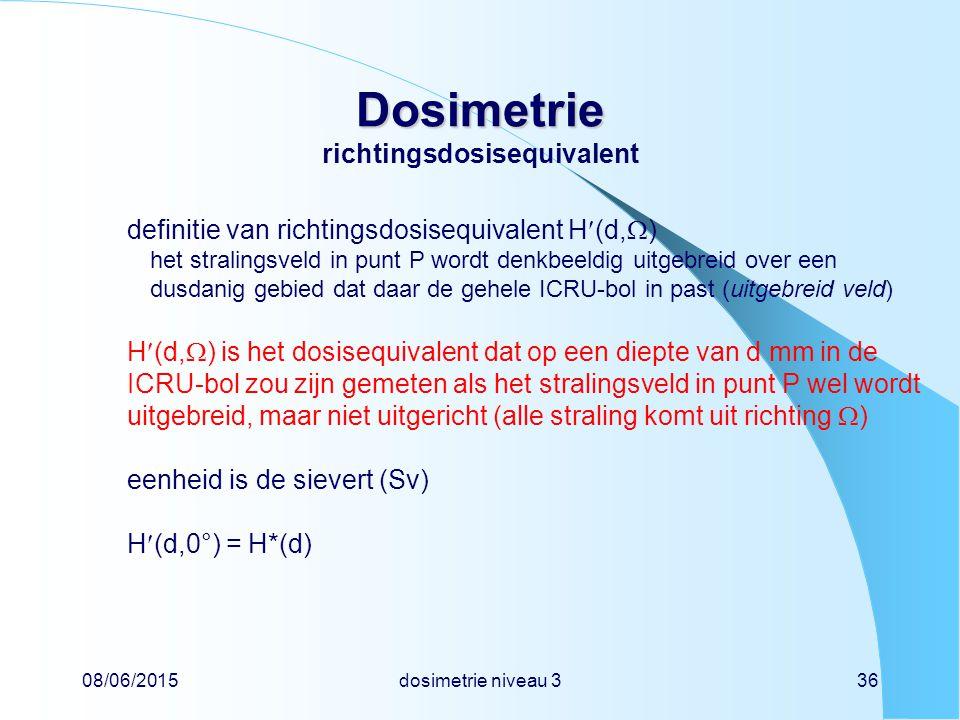 Dosimetrie richtingsdosisequivalent