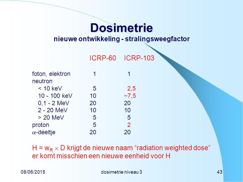 Dosimetrie nieuwe ontwikkeling - stralingsweegfactor