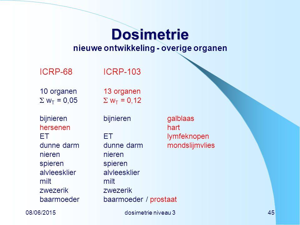 Dosimetrie nieuwe ontwikkeling - overige organen