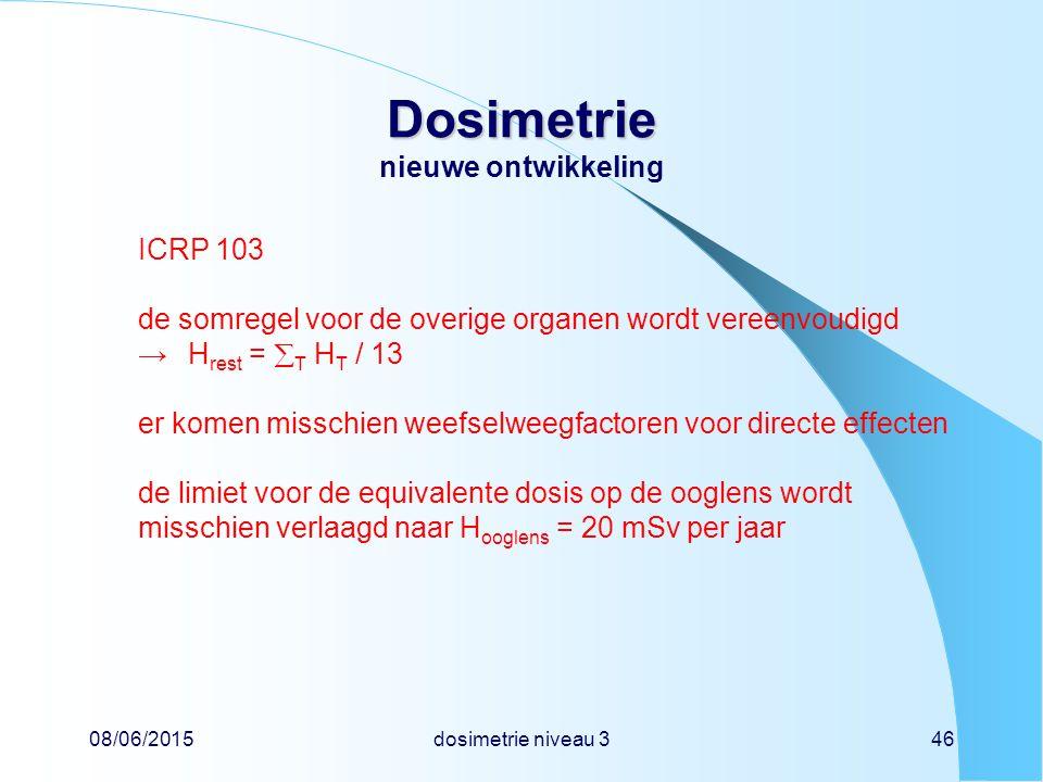 Dosimetrie nieuwe ontwikkeling