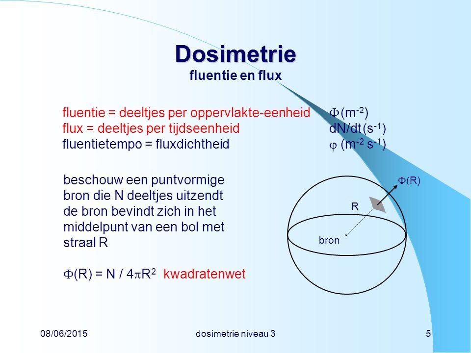 Dosimetrie fluentie en flux