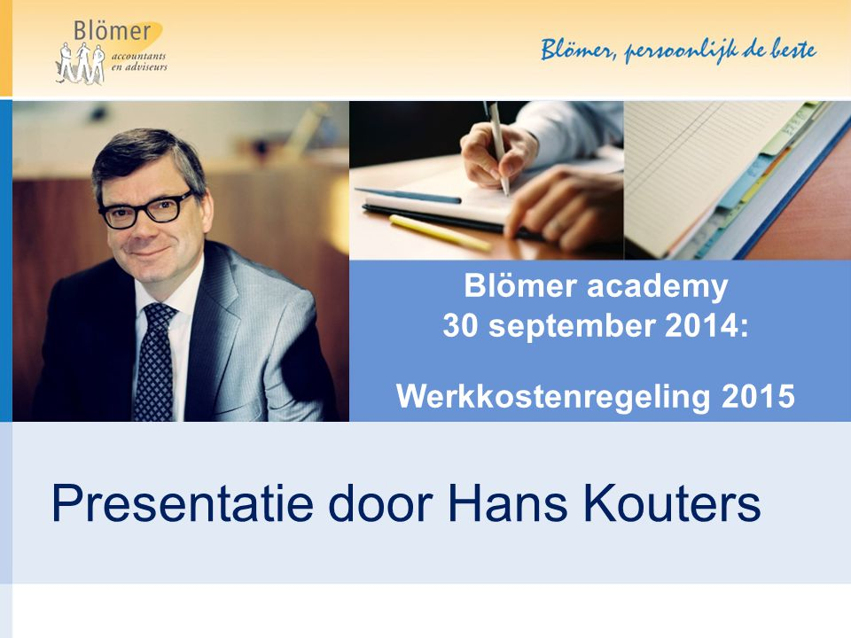 Blömer academy 30 september 2014: