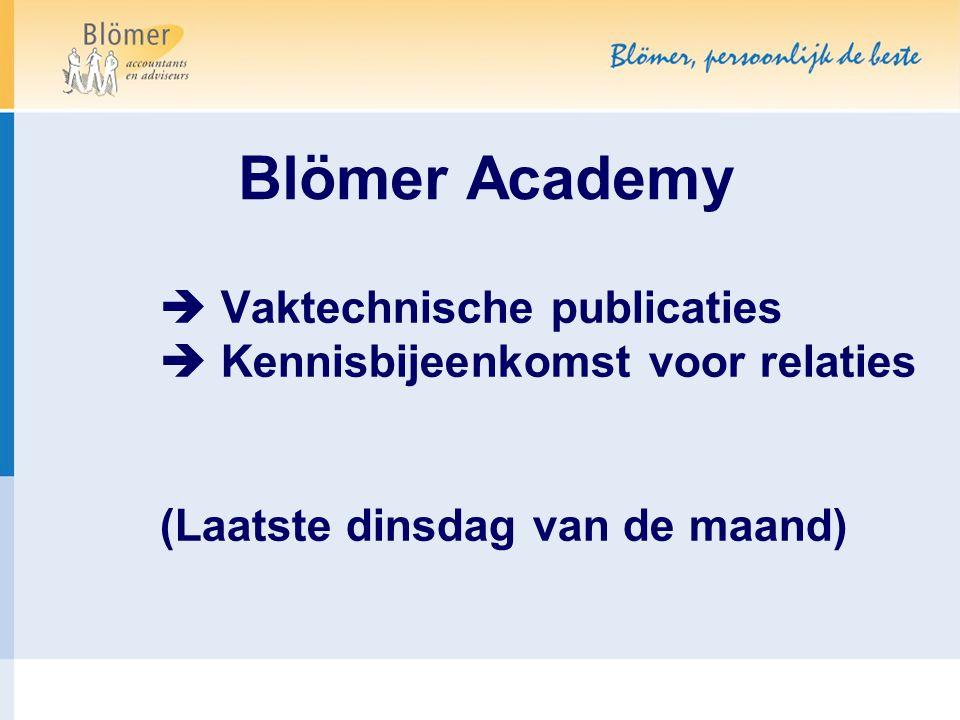 Blömer Academy  Vaktechnische publicaties
