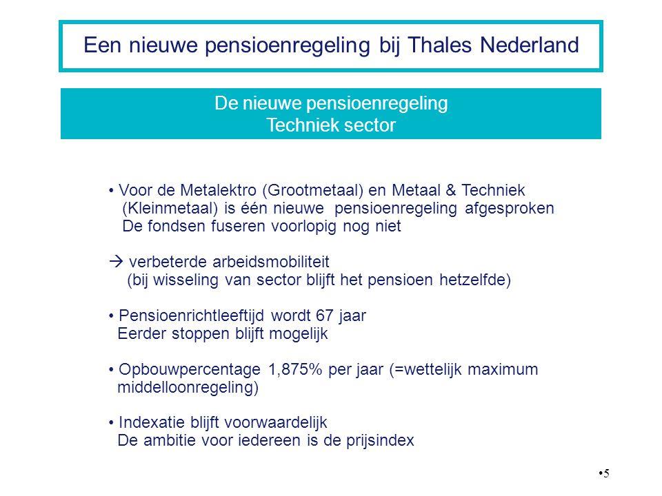 De nieuwe pensioenregeling Techniek sector