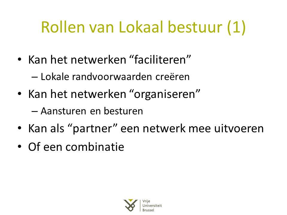 Rollen van Lokaal bestuur (1)