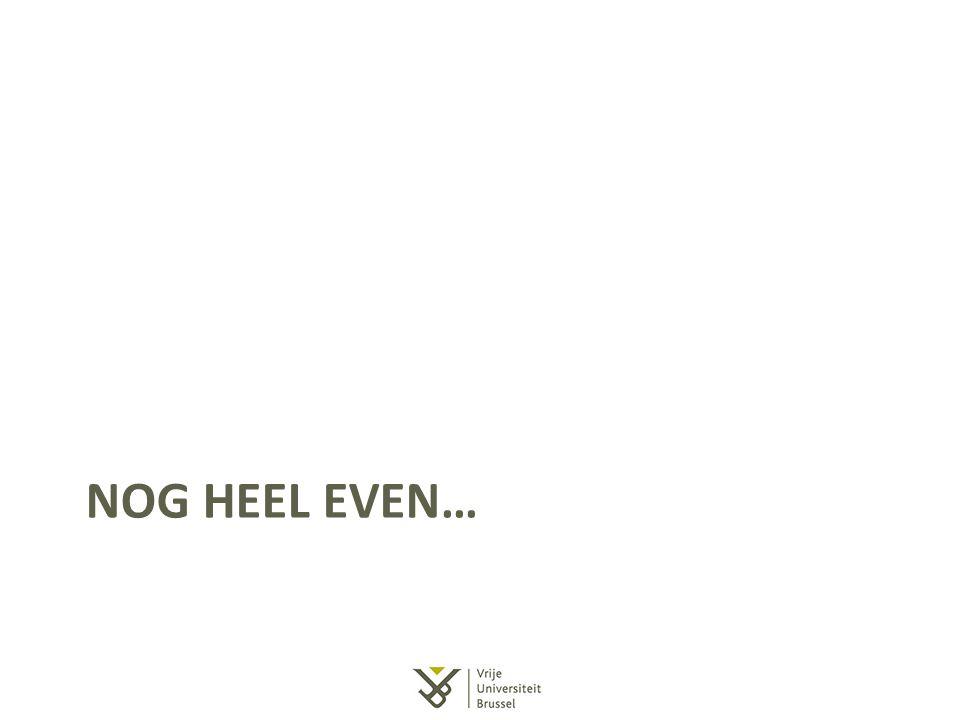 Nog heel even…