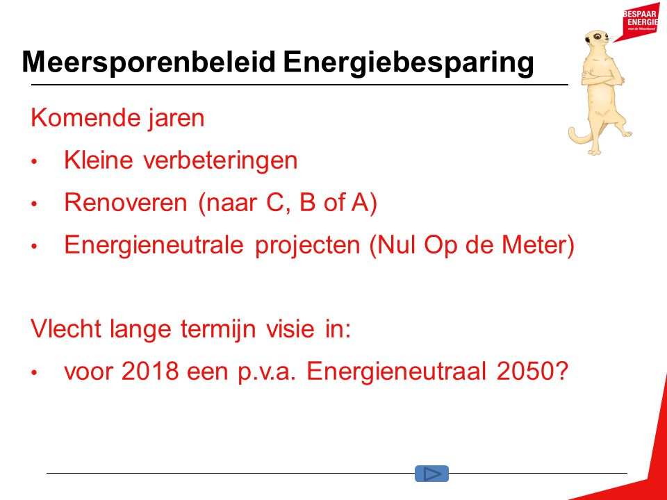 Meersporenbeleid Energiebesparing